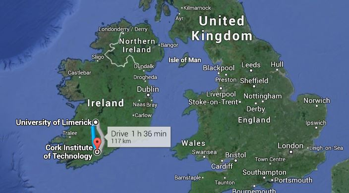 Distance from Munster's training base in Cork to their training base in Limerick