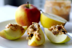Nut butter on apples