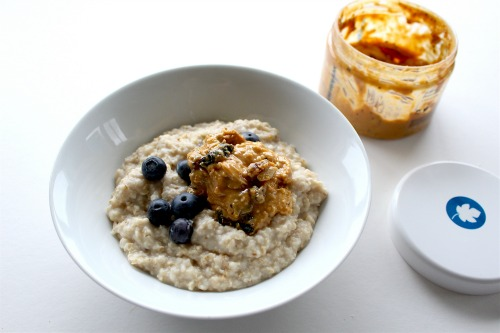 Porridge with wyldsson nut butter